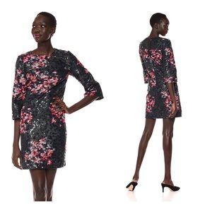TRINA TURK Grenadine 3/4 Sleeve Embellished Dress